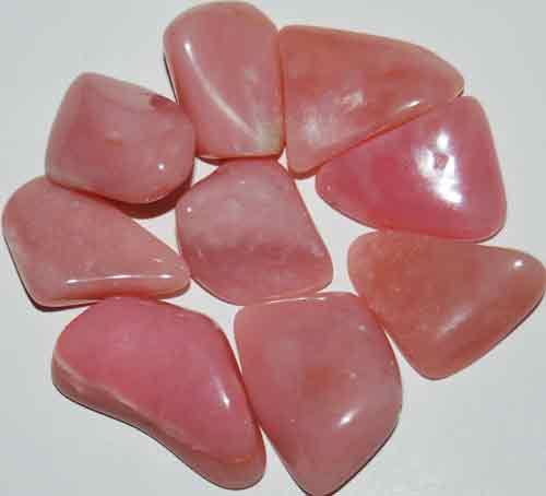 9 Peruvian Pink Opal (Grade AA) Tumbled Stones #11