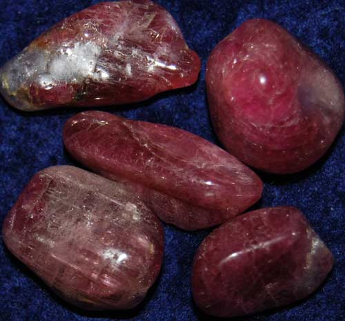 Five Pink Tourmaline with Lepidolite Tumbled Stones #5