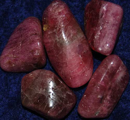 Five Pink Tourmaline with Lepidolite Tumbled Stones #8