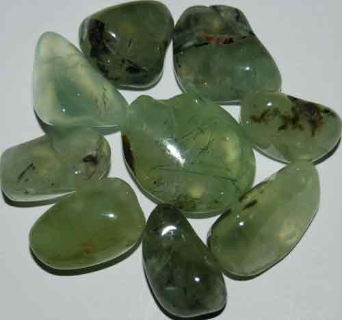 9 Prehnite Tumbled Stones (Grade AAA) #2