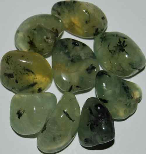 9 Prehnite Tumbled Stones (Grade AAA) #7