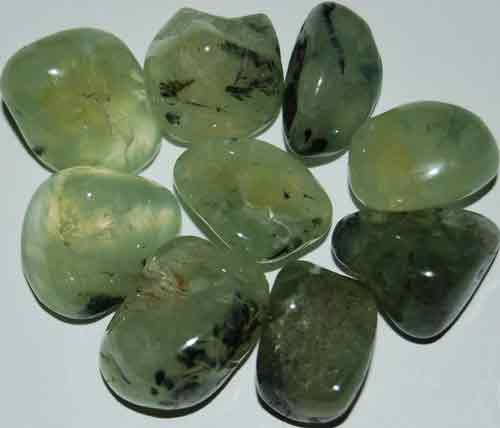 9 Prehnite Tumbled Stones (Grade AAA) #9