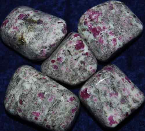 5 Tumbled Ruby in Granite #1