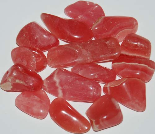 15 Rhodochrosite Tumbled Stones #5