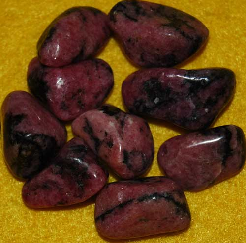 Nine Rhodonite Tumbled Stones #5