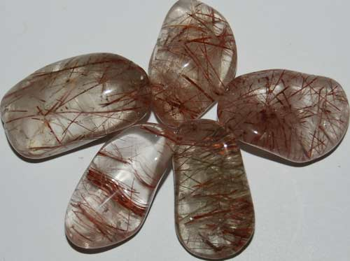 5 Rutilated Quartz Tumbled Stones #15