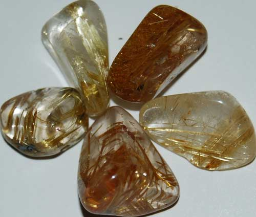 5 Rutilated Quartz Tumbled Stones #4