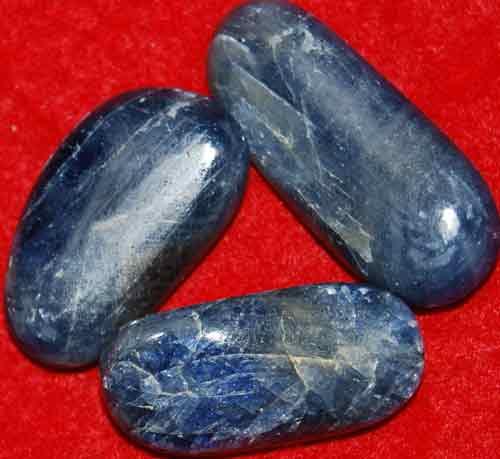3 Sapphire Tumbled Stones #8