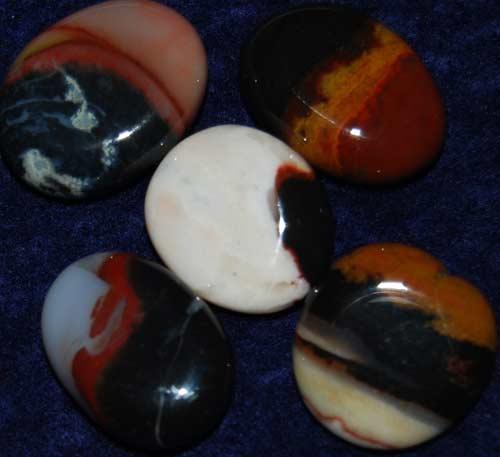 5 Sardonyx Tumbled Flat Stones #3