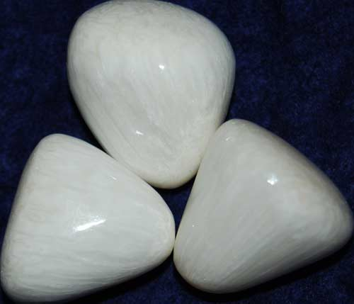 Three Scolecite Tumbled Stones #2