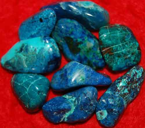 9 Shattuckite Tumbled Stones #13