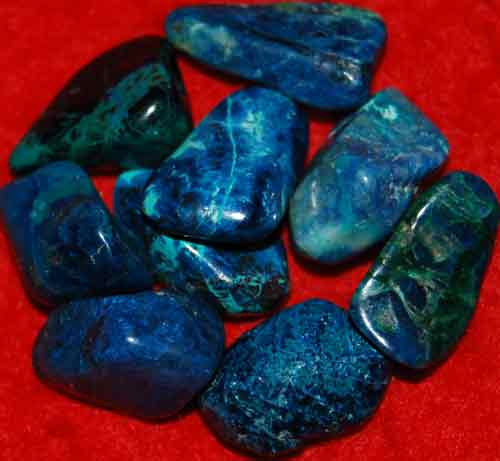 9 Shattuckite Tumbled Stones #14