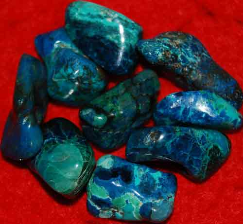 9 Shattuckite Tumbled Stones #15