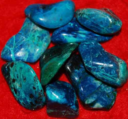 9 Shattuckite Tumbled Stones #17