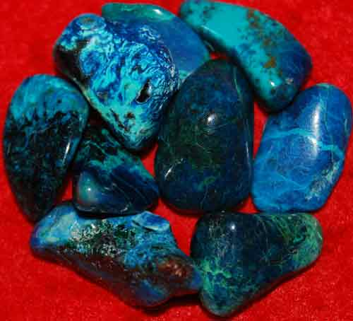 9 Shattuckite Tumbled Stones #18