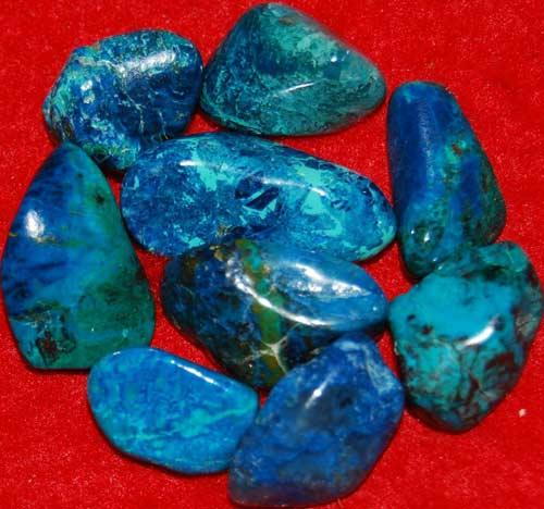 9 Shattuckite Tumbled Stones #1
