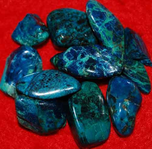 9 Shattuckite Tumbled Stones #20