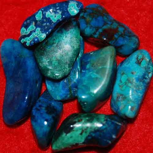 9 Shattuckite Tumbled Stones #9