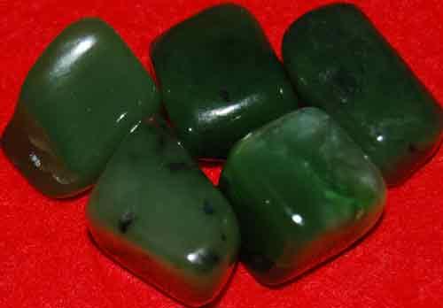 5 Siberian Jade Tumbled Stones #10