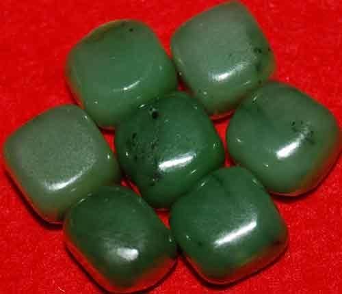 7 Siberian Jade Tumbled Stones #1