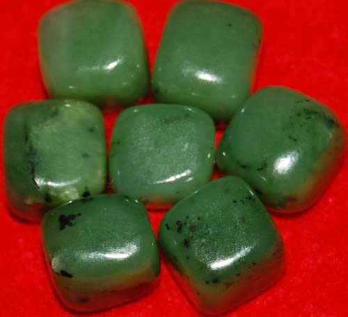 7 Siberian Jade Tumbled Stones #4