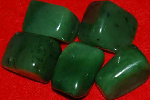 5 Siberian Jade Tumbled Stones #7