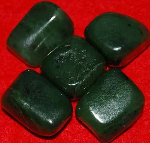 5 Siberian Jade Tumbled Stones #9