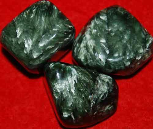3 Seraphinite Tumbled Stones #11