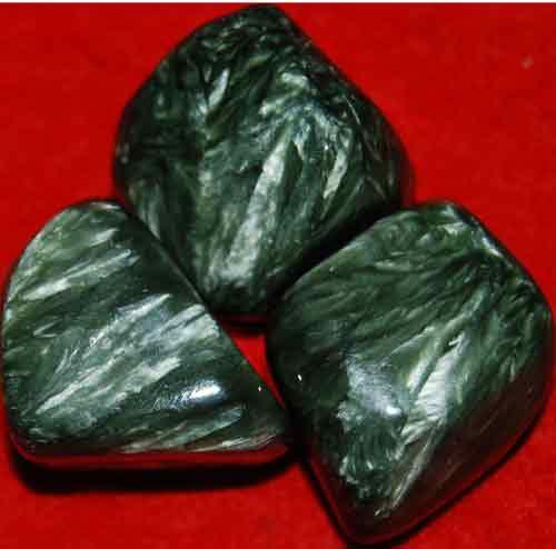 3 Seraphinite Tumbled Stones #12