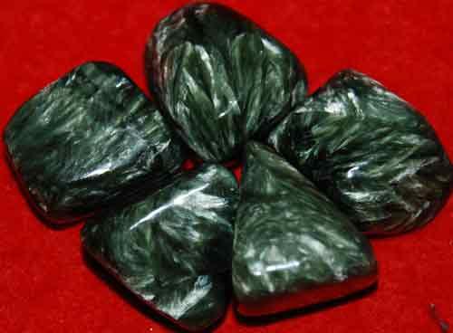 5 Seraphinite Tumbled Stones #4