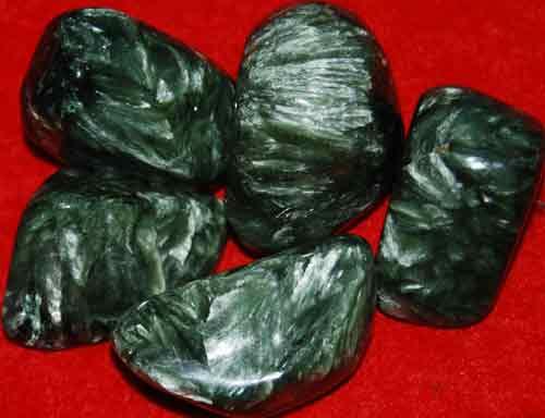 5 Seraphinite Tumbled Stones #6