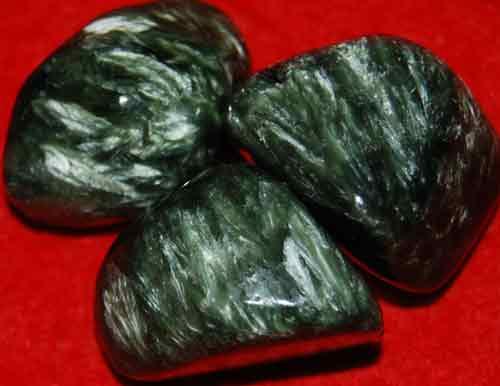 3 Seraphinite Tumbled Stones #7