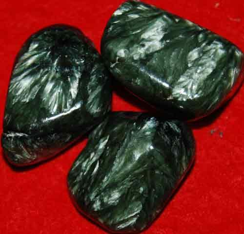 3 Seraphinite Tumbled Stones #8