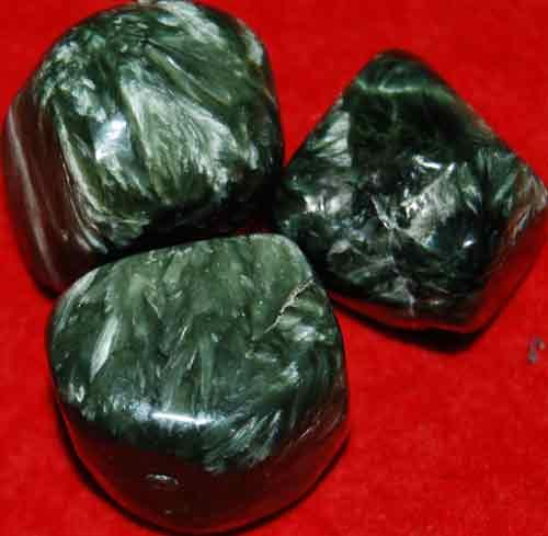3 Seraphinite Tumbled Stones #9