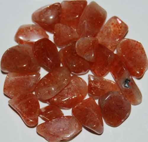 21 Tumbled Sunstones #14