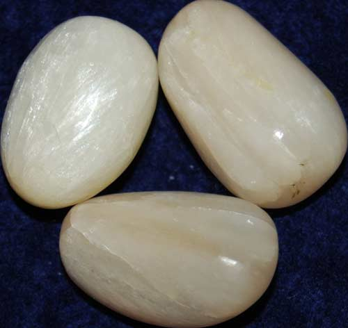 3 Stilbite Tumbled Stones #10