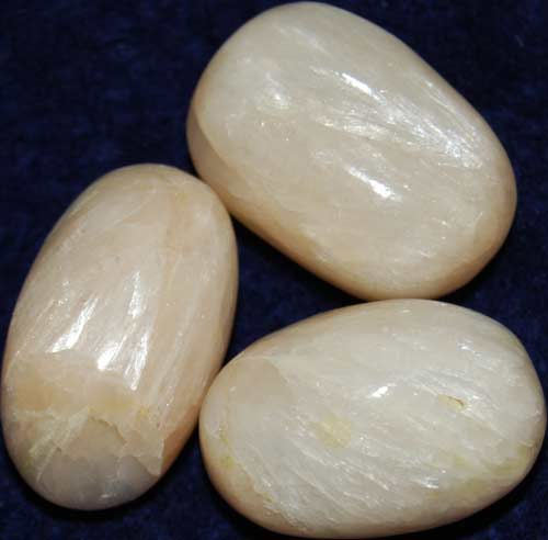 3 Stilbite Tumbled Stones #12