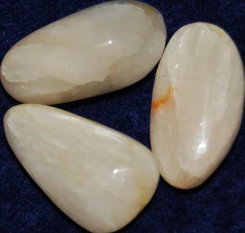 3 Stilbite Tumbled Stones #2