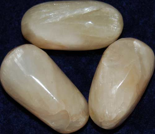 3 Stilbite Tumbled Stones #8