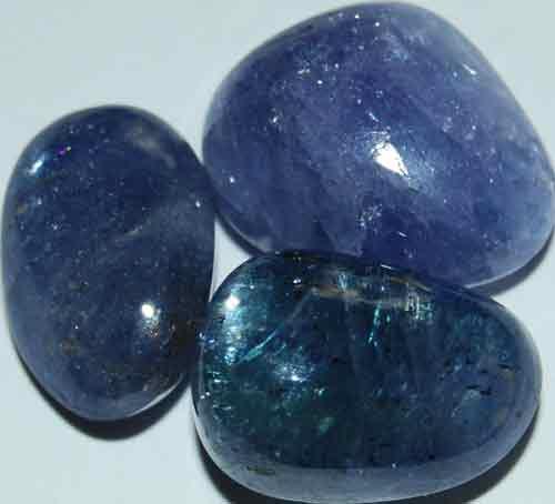 Three Tanzanite Tumbled Stones #13