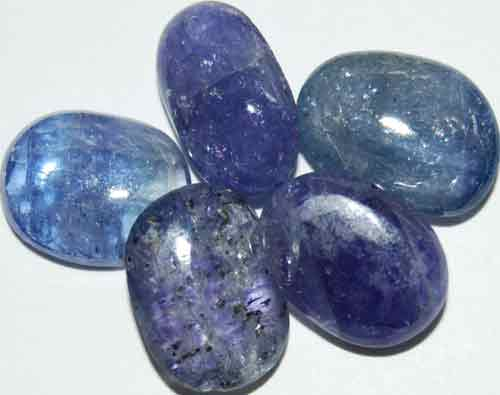 Five Tanzanite Tumbled Stones #2