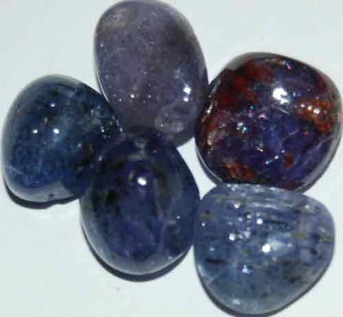 Five Tanzanite Tumbled Stones #4