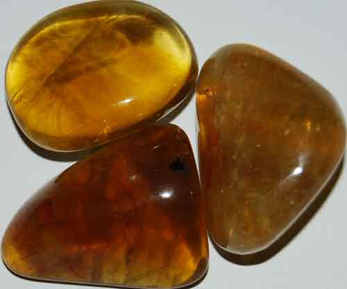 3 Yellow Fluorite Tumbled Stones #11