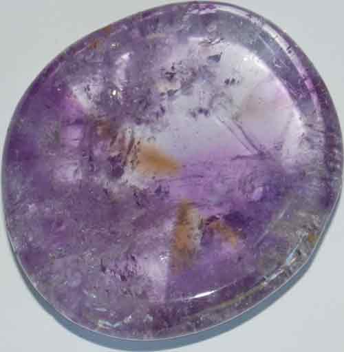 Amethyst Worry/Thumb Stone #9