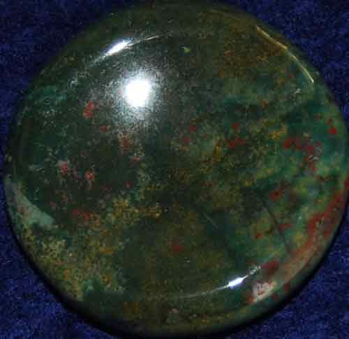 Bloodstone Worry/Thumb Stone #2