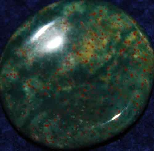 Bloodstone Worry/Thumb Stone #5