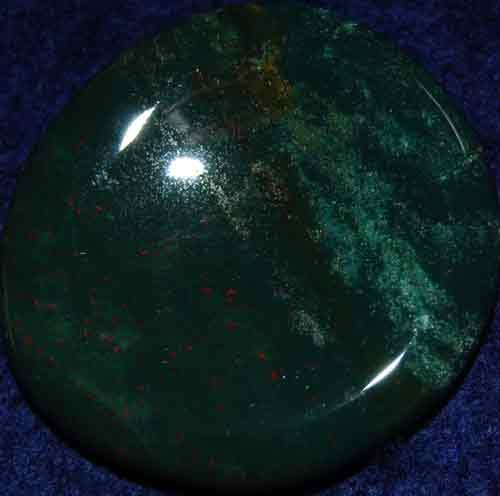 Bloodstone Worry/Thumb Stone #7
