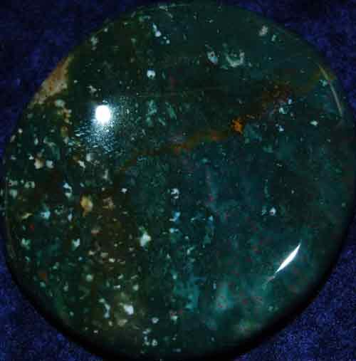 Bloodstone Worry/Thumb Stone #8