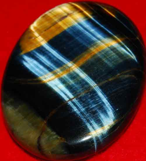 Blue Tiger Eye Worry/Thumb Stone #10