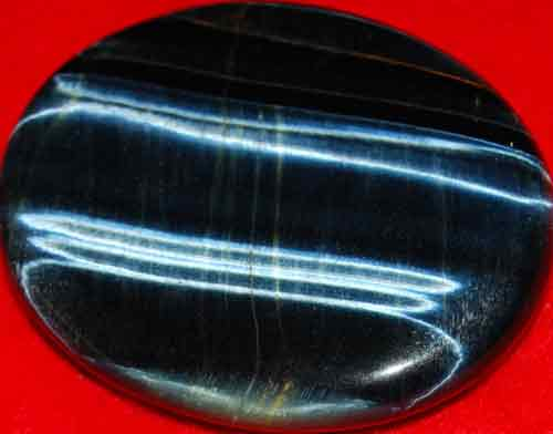 Blue Tiger Eye Worry/Thumb Stone #12